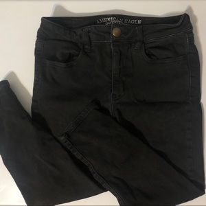 American Eagle Capri Crop Black Jeans